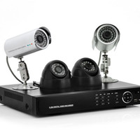 Wholesale 4 Channel DVR System Indoor and Outdoor Cameras TVL GB HDD H