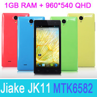 Wholesale Original Jiake JK11 quot QHD Screen Quad Core MTK6582 Android Dual Camera Bluetooth GB Magyar Greek Unlocked G Smart Mobile Cell Phone