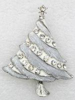 costume brooch jewelry - jewelry gift Clear Rhinestone Brooch Fashion Costume brand Brooches Enamel Christmas tree brooch C421 BN1