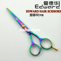 Wholesale Color Edward professional grade flat cut of scissors hairdressing scissors barber scissors barber tools B9