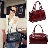 Wholesale S5Q Fashion Vintage PU Leather Handbag Women Messenger Bags Shoulder Bag Totes AAACVQ