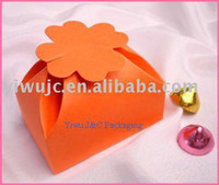 Wholesale DHL Orange Party Favor Boxes Wedding Candy Boxes JCO