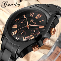 china watches - Men wrist Waterproof black ceramic watch china make watches