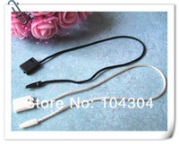 Wholesale DHL8 quot White color Black color Hang Tag Nylon String Snap Lock Pin Loop Fastener Hook Ties hang tag hang tags tag strin