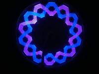 Wholesale 1pcs Super Bright LED wheel light Waterproof double side Display Light Bicycle lights with leds RGB with patterns Bike Wheel light