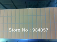 Cheap Wholesale Blank Label sticker, Art paper sticker 20*10mm 2000pcs Labels per roll for barcode price tag printing