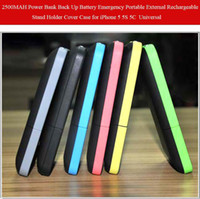 Wholesale Universal MAH Power bank Back up Battery Emergency Portable External Rechargeable Stand Holder Cover Case For iPhone S C w Stylus