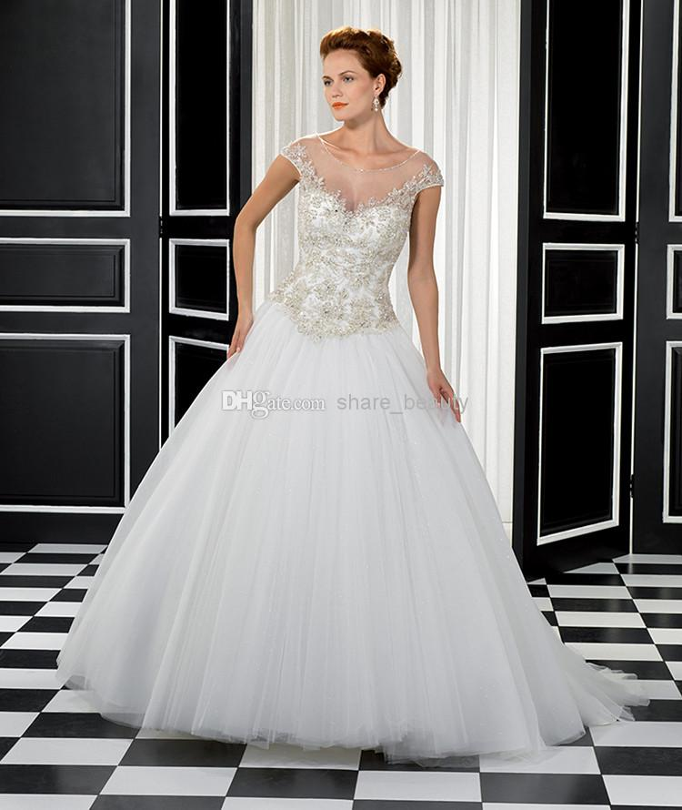2014 christmas 80 on a line wedding dresses monarch train sheer strap