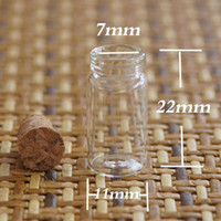 Glass   Wholesale - - DhlFree Shipping 500pcs factory very cute glass vials Glass Bottles small bottles with corks 11*22mm