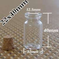 Glass   Wholesale - - Dhl100 pcs lot factory 7ml glass vials vial Glass Bottles small bottles with corks