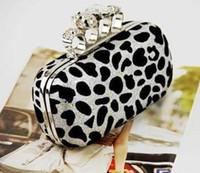 animal mix shoulder - Leopard Clutch Bag For Women With Shoulder Chain Gold Silver Color Mix B21
