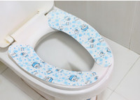 Cheap 10PCS Washable Adhensive Washroom Magic Warm Toilet Seat Cover Pads