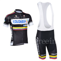 Wholesale Hot Sale New Arrival Colombia1 Short Sleeve Cycling Jerseys bib shorts or shorts Cycling Suit Cycling Wear S13C101