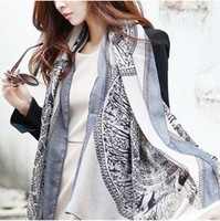 Wholesale high quality new autumn and winter scarves scarves large totem long scarf Voile fawn color