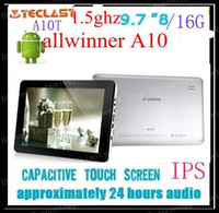 Wholesale freeshipping airmail Teclast quot A10t IPS Capacitive Screen A10 Ghz GB DDR3 Android GB gb Tablet PC
