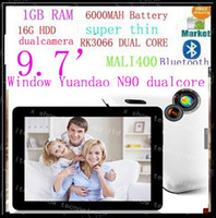 Wholesale The Newest windows N90 Dual CoreII IPS Inch Screen dual camera HDMI g hdd tablet pc