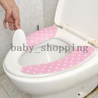 Cheap (Minimum order $5,can mix) Hygienic Comfortable Toilet Seat Sticky Pads Cover Mats CM1157