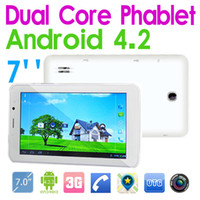 Wholesale Dual Sim inch G Android Dual core Phablet MTK8312 GHz Tablet PC Bluetooth GPS WiFi Auto focus