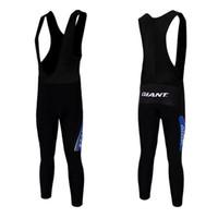 Wholesale 2014 Giant Black Bib Cycling Shorts Kit Pro Padded Bib Cycling Long Pants Cheap Cycling Jerseys Kit Breathable Fabric Size S to XXXL