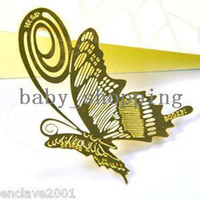 Wholesale Minimum order can mix K Gold Plated Butterfly Style Gilt Bookmark HQS Y34102