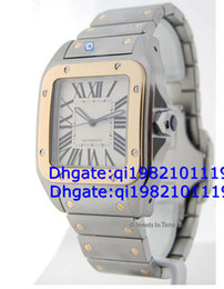 Factory direct sales of high quality low price 100 XL Mens 18k Gold & Steel Watch