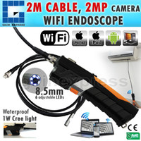 Wholesale N04WF200_HD_3M HD Waterproof M iPad IPhone iOS Android WiFi Inspection mm Camera Borescope Snakescope Endoscope Meter Flexible Cable