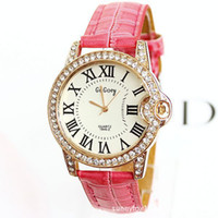 Wholesale Genuine GoGoey beautifully designed high end fashion brand new table Right Convex Rome rose gold diamond watch