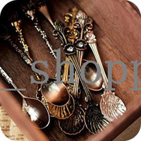 Wholesale Min Order mixed order fashion royal wind coffee spoon teaspoonful ice cream vintage spoon