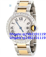 Luxury Round Analog Factory direct sales of high quality low price-- Bleu 1.25 Diamond Stainless Steel 18K Yellow Gold Ladies Watch