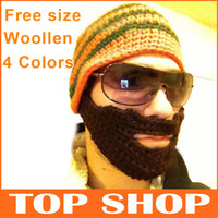 Wholesale Hats Beanie Skull Caps Bearded Wool Knitted Hats Beard Knitted Hat Warmer Ski Bike Skull Hat Unisex Men Beard Cap SS0001