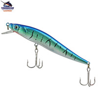 Wholesale fishing hard lures with hooks fishing baits minnow cm g fishing tackle tools gear H08