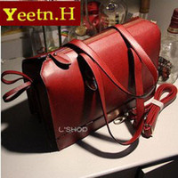 Wholesale 0399Promotion Fashion bow vintage leather bags women classic handbag messenger bag