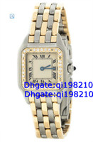 Luxury Round Analog Factory direct sales of high quality low price--Panthere Steel 18K Yellow Gold Two Tone Diamond Quartz Ladies Watch