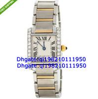 Luxury Round Analog Factory direct sales of high quality low price--Diamond Bezel Steel 18K Yellow Gold Quartz Ladies Watch