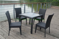 Wholesale rattan dining table and chair outdoor rattan furniture