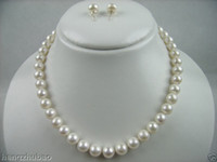 Wholesale Best Buy Pearl Jewelry Genuine PERFECT quot AAA MM WHITE AKOYA PEARL NECKLACE SET k