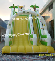 Wholesale inflatable tiger and jungle slide inflatable slide child inflatable trampoline large combination amusement equipment customize