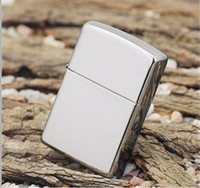 Wholesale Fedex custom customized Oil lighter silver cool mirror lighter classic smooth mirror lighters