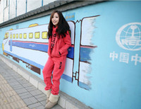 Wholesale 2013 fall and winter clothes new large size sportswear fleece hooded three piece suit thicker female kit