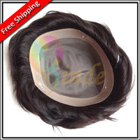 Wholesale Stock quot x10 quot quot x9 quot quot x8 quot Indian Remy Hair Mono Base with PU around men hair Toupee