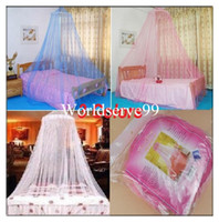 Wholesale Bed Canopy Netting Curtain Mosquito Nets Dome Fly Midges Insect Stopping Net Outdoor Colors