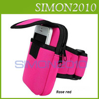 Wholesale Colorful Armband Cycling Sports Running Wrist Pouch Mobile Cell Phone Arm Band Bag Wallet Double Zip For Apple iphone S S C