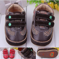 Wholesale New Hot Sale baby toddler shoes children s shoes grid warm breathable baby shoes China Velcro shoes walker shoes pairs