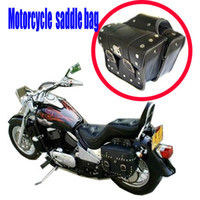 Wholesale 2 x universal Motorcycle Saddlebags Saddle Bags left right Pouch for Harley New