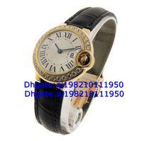 Luxury Round Analog Factory direct sales of high quality low price--Ladies Bleu WE900151 18k Yellow Gold Diamond Quartz Watch