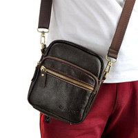 Men'S Small Leather Shoulder Bag – Shoulder Travel Bag