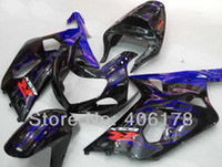 Injection Mold For Suzuki GSX-R 600/750 Same as OEM ! 01 02 03 gsxr 600 fairings For Suzuki GSXR600 750 2001 2002 2003 Blue Flame Race Bike Fairings (Injection molding)