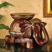 Wholesale new Thai elephant stool changing his shoes resin crafts ornaments elephant elephant stool Creative Home