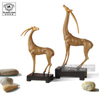Wholesale European style European decorated jewelry crafts making money deer Home Decoration Lucky Feng Shui Living Room