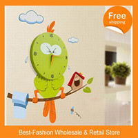 Cheap Digital Three dimensional surface Best Needle Plastic cartoon clock